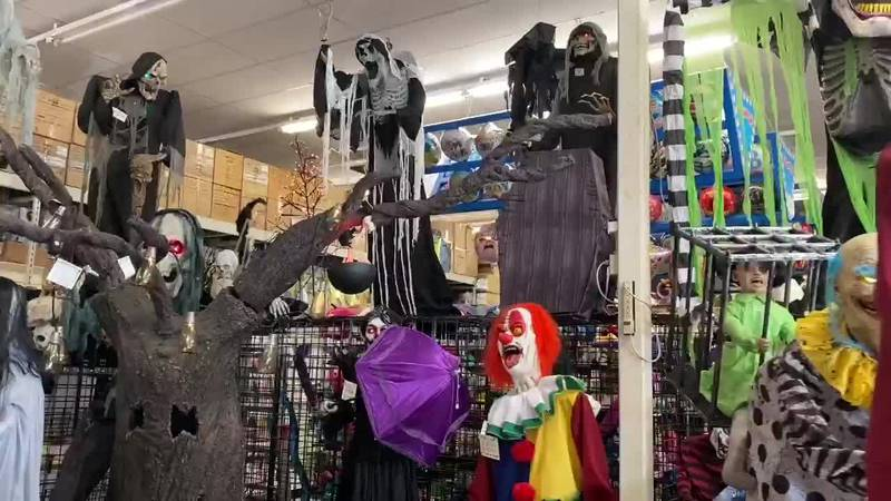 One Halloween store in East Texas is experiencing supply chain constraints even as foot traffic...