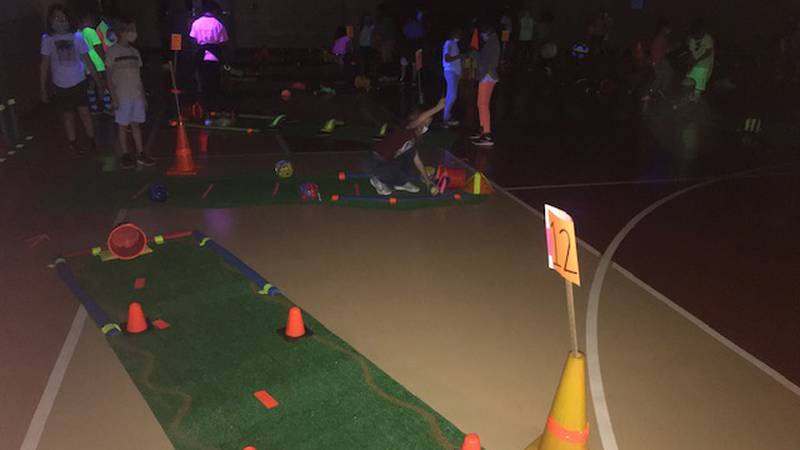 Putt-Putt course at Andy Woods Elementary School